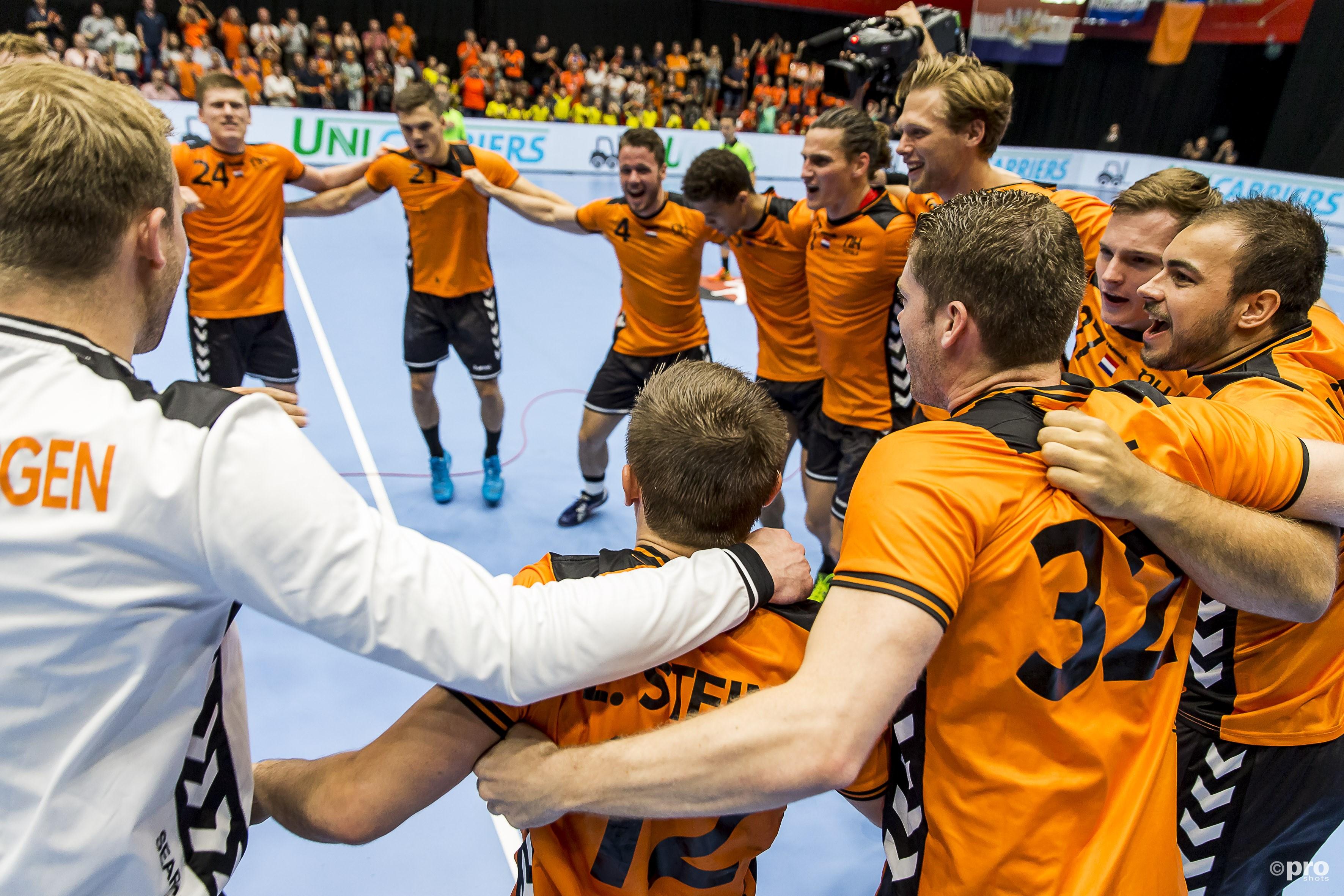 Handballers mogen naar het EK. (PRO SHOTS/Toin Damen)