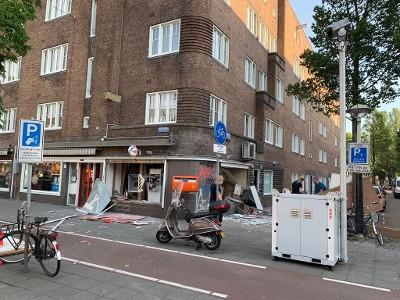 Enorme ravage na plofkraak Amsterdam (Foto: Politie.nl)