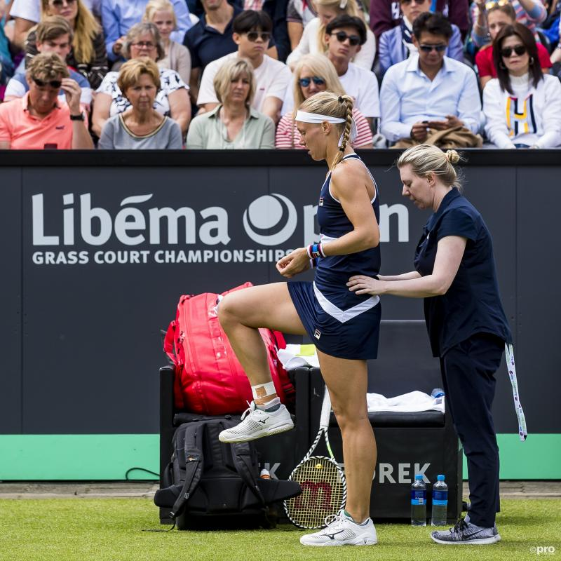 Kiki Bertens is even niet aan het tennissen in Rosmalen, wat is hier gaande? (Pro Shots / Joep Leenen)