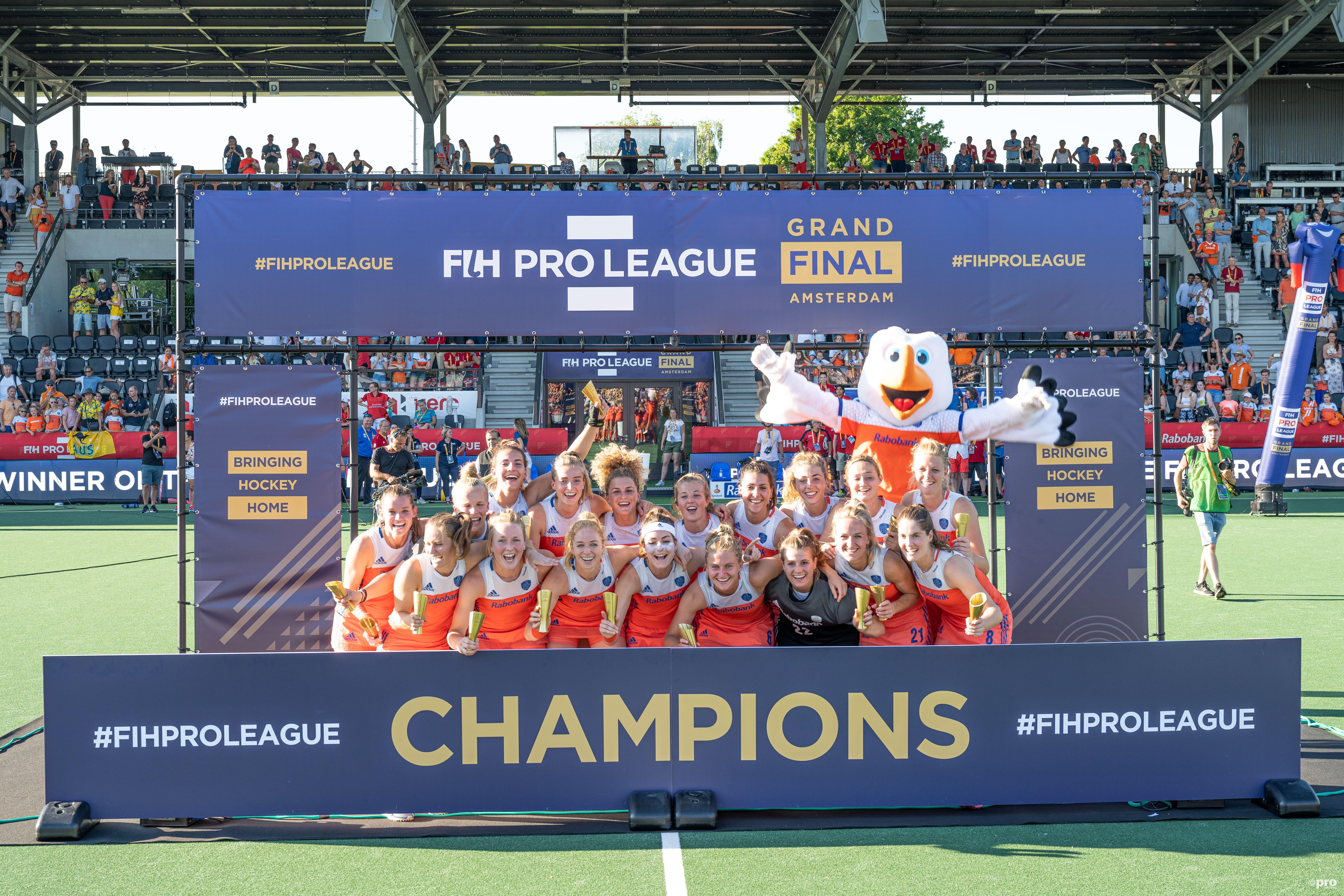 De dames winnen de eerste editie van de Pro League (PRO SHOTS/Bart Scheulderman)