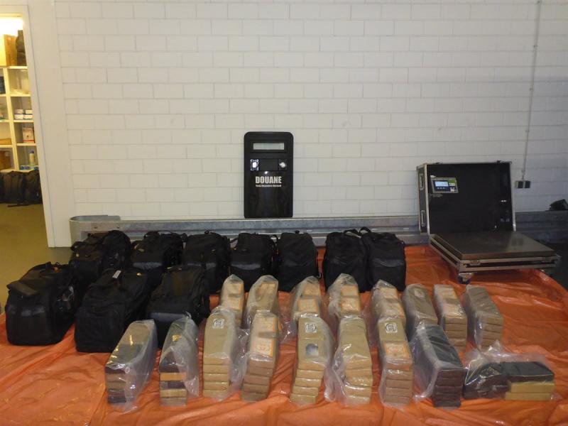 Douane onderschept ruim 500 kg coke (Foto: Openbaar Ministerie)