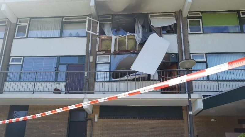De woning waar de explosie plaatsvondt (Afbeelding: Politie)