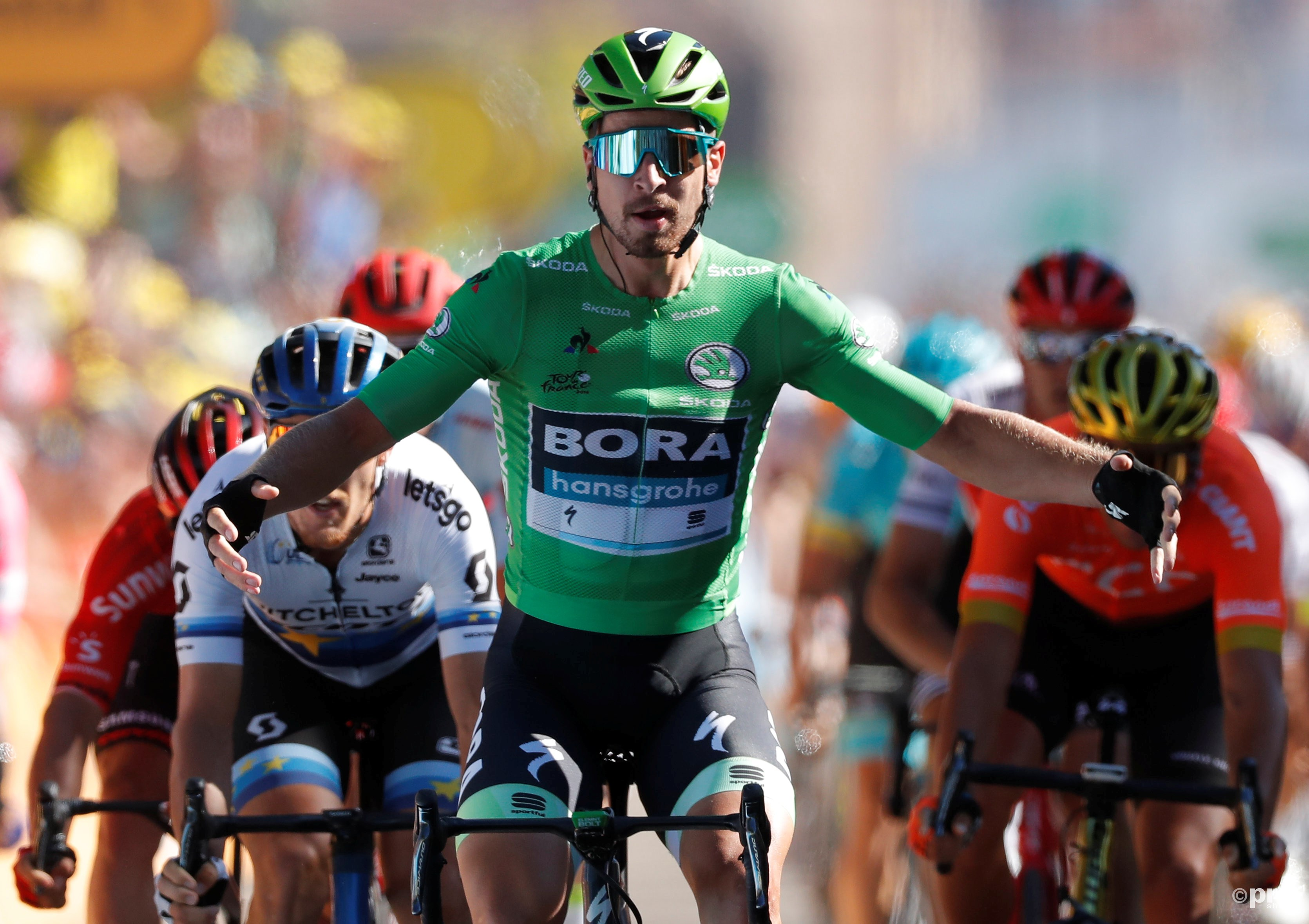 Sagan sprint naar twaalfde etappezege in Tour de France (Pro Shots / Action Images)