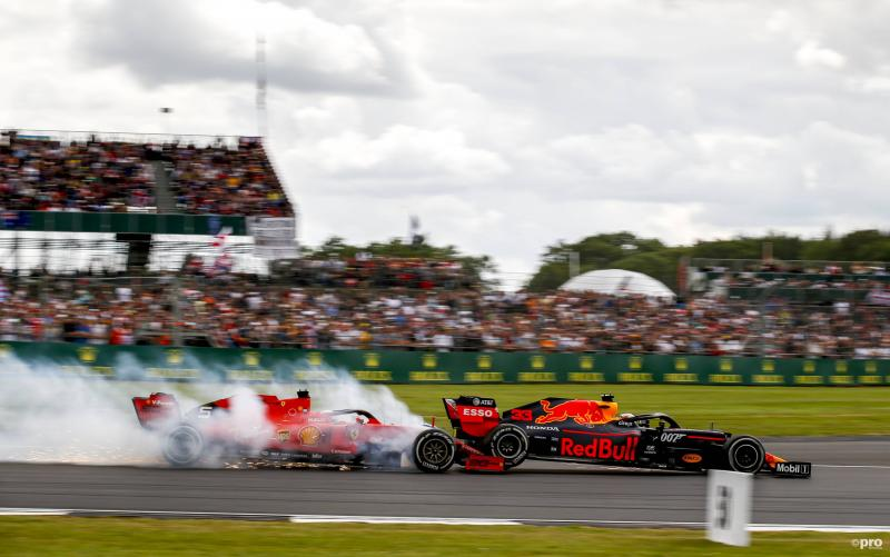 Vettel tikt Verstappen aan op Silverstone (Foto: Pro Shots/Imago)