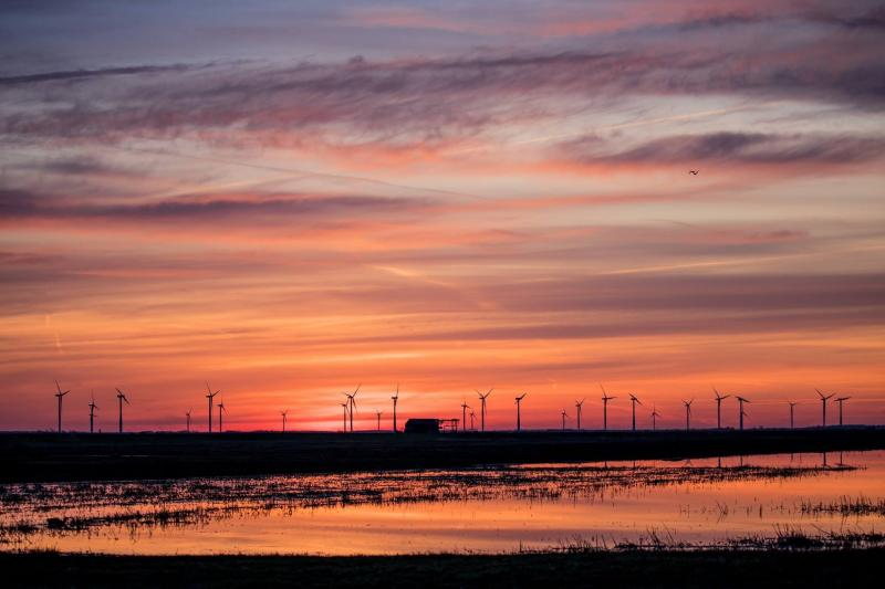 Zonsopkomst in de polder van Eemnes (Foto: klapmongeaul)