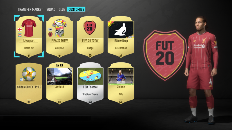 FIFA Ultimate Team - Customization Screen