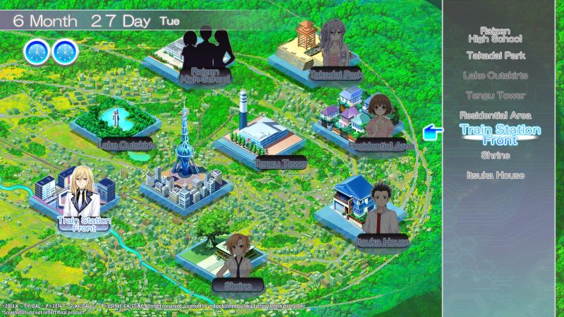 Date a Live: Rio Reincarnation - Map (Foto: IdeaFactory)