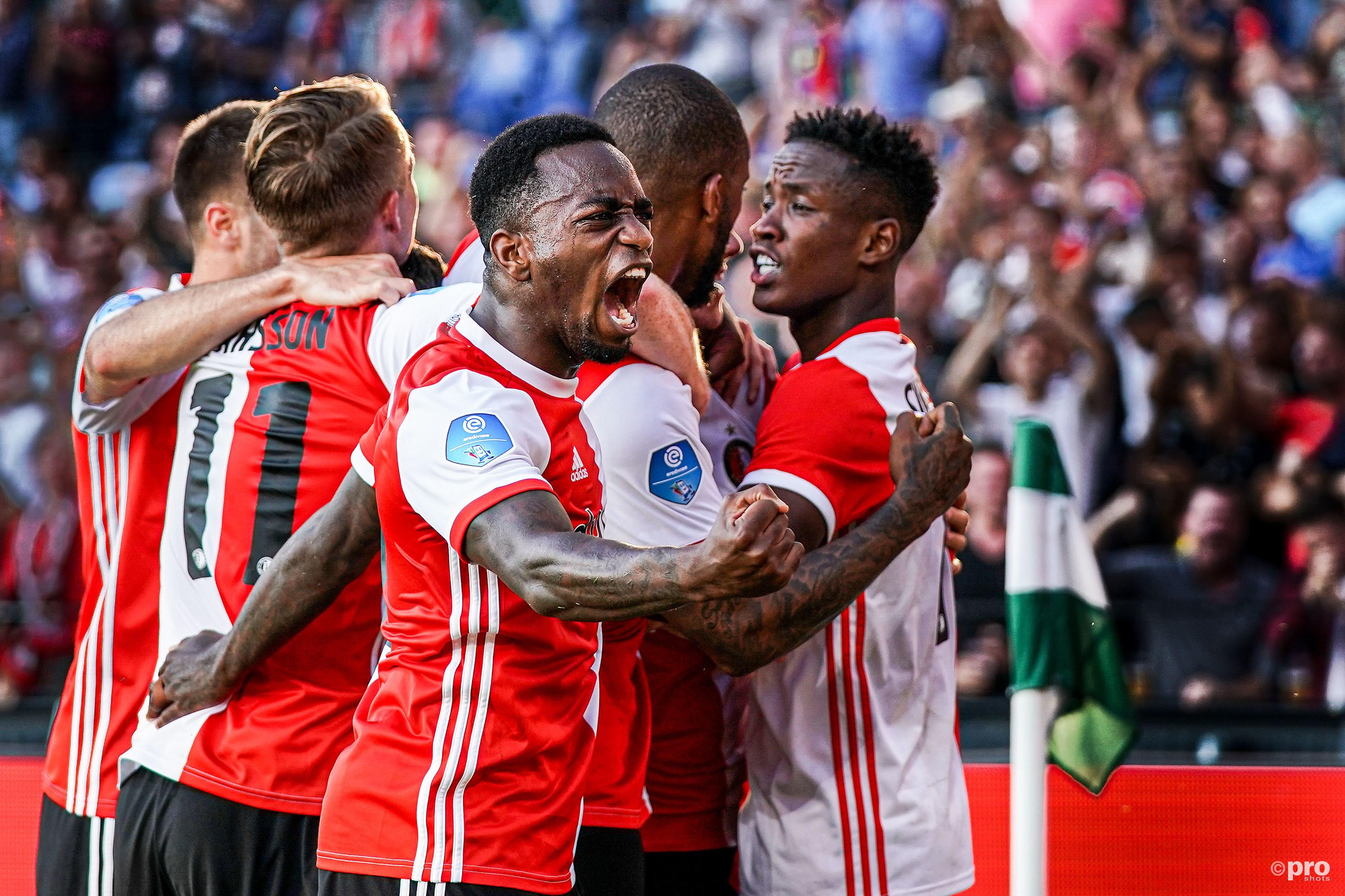 Feyenoord viert het doelpunt na de 1-0 (Pro Shots / Kay Int Veen)