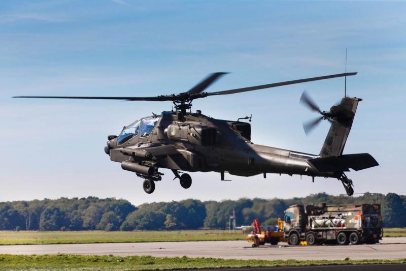 Apache's na preventieve inspecties weer inzetbaar (Archieffoto defensie)