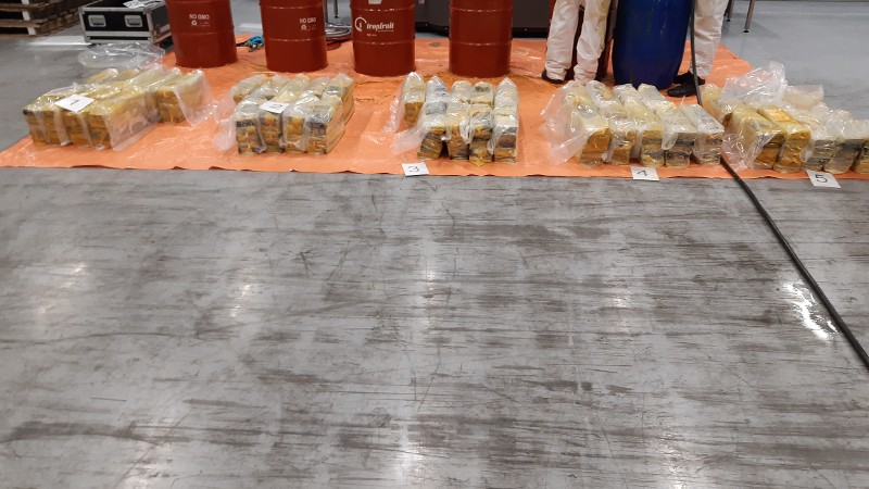 Meerdere partijen drugs onderschept in Rotterdamse haven (Afbeelding: Politie)