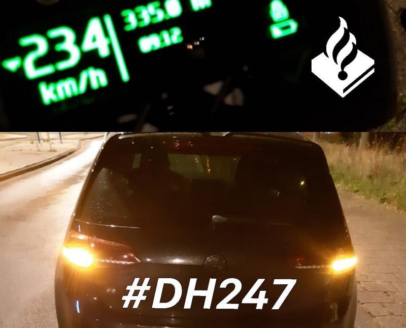 Met 234 km/u over de A4 (Foto: Politie Westland )