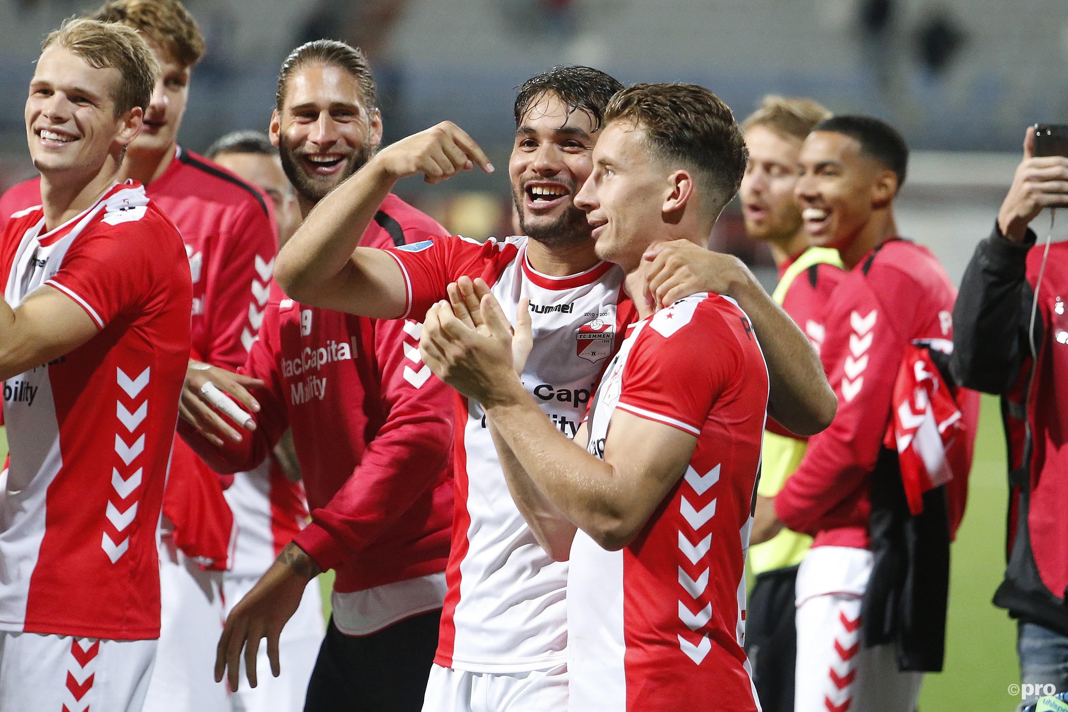 FC Emmen wint van Heerenveen. (PRO SHOTS/Niels Boersema)