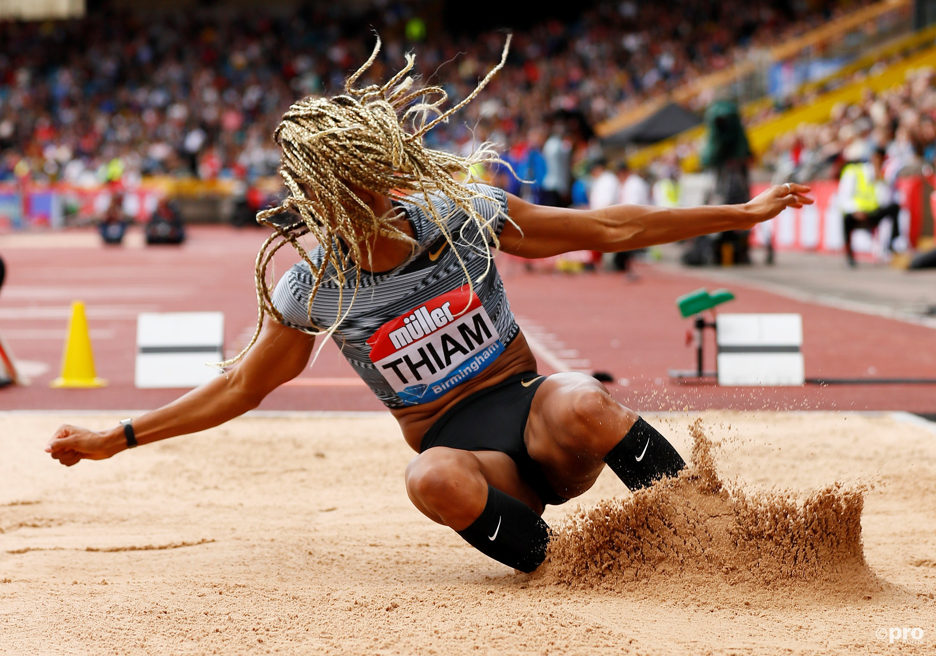 Nafissatou Thiam in actie. (PRO SHOTS/Action Images)