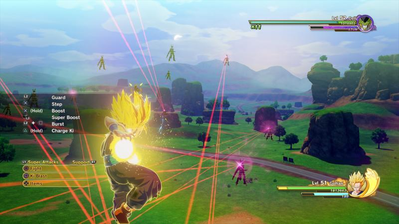 Dragon Ball Z: Kakarot - Gohan vs Cell fighting (Foto: Bandai Namco)