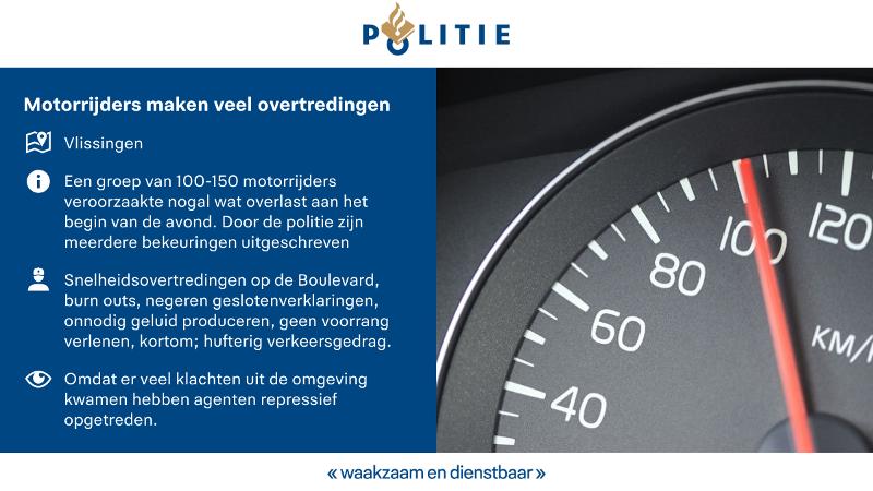Politie deelt meerdere boetes uit aan 'hufertige' motorrijders (Afbeellding: Politie)