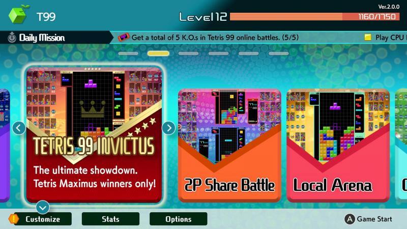 Tetris 99 - Invictus