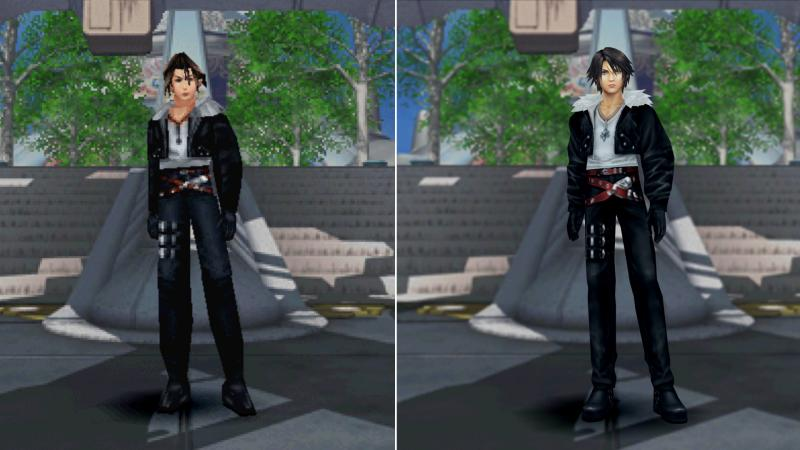 Final Fantasy VIII Remastered - Difference in models