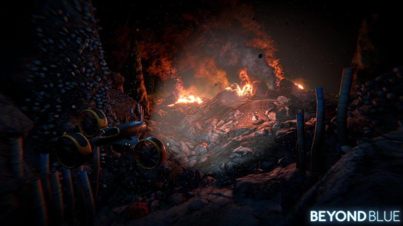 Beyond Blue - Volcano (Foto: E-Line Media)