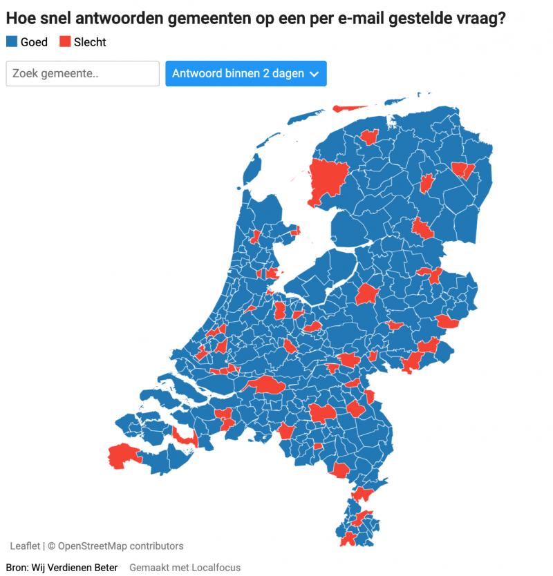 Steeds meer gemeenten beantwoorden op tijd hun e-mail (Foto: Wij verdienen beter)