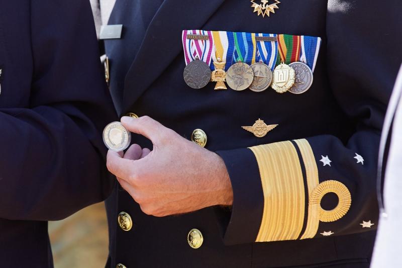 De officiële herdenkingsmunt: het Market Garden Vijfje. (Foto: Defensie) (Foto: Defensie)