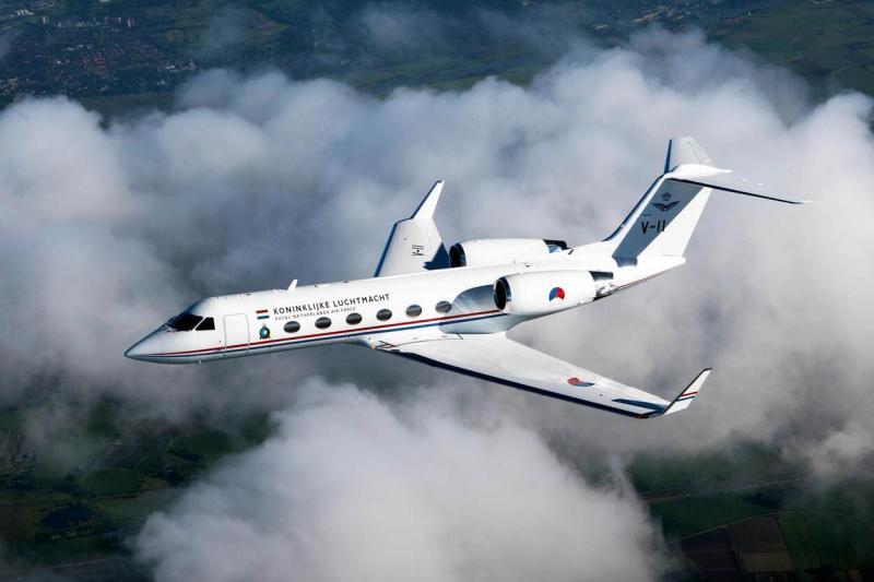 De Gulfstream van de Koninklijke Luchtmacht (archieffoto: Defensie)