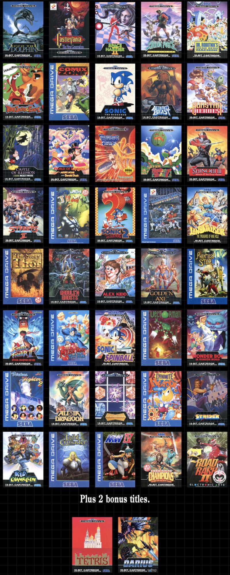 Sega Megadrive Mini - games