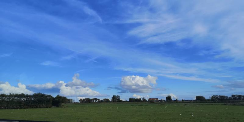 Mooie wolkenformatie