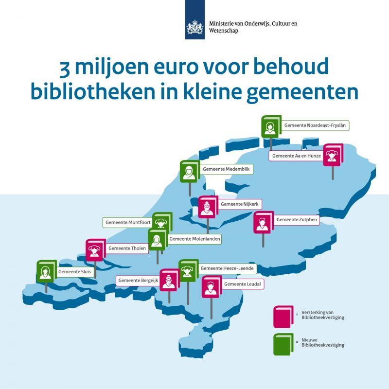 3 miljoen euro voor behoud bibliotheken in kleine gemeenten  (Foto: Rijksoverheid)