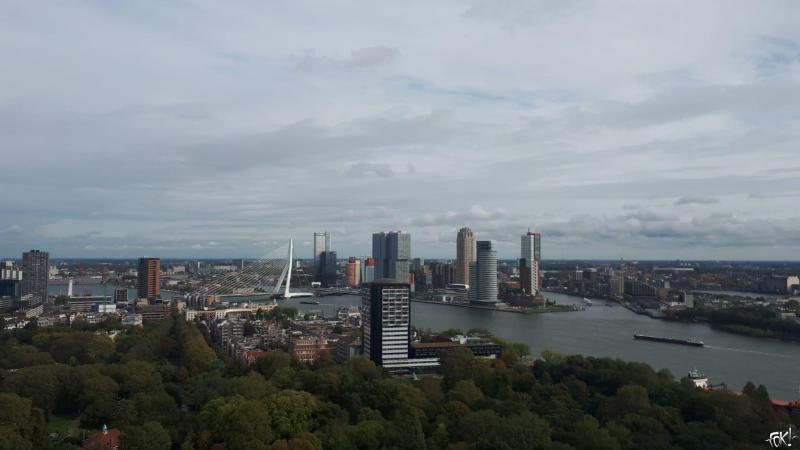 Uitzicht over Rotterdam vanaf de Euromast  (Foto: De dochter van DJMO )