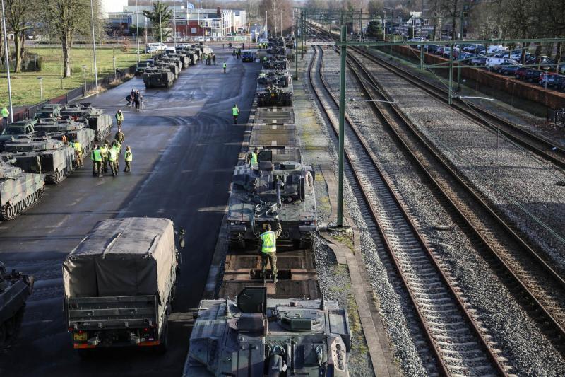 Grote Amerikaanse troepenverplaatsingen door Nederland (Foto: Defensie)