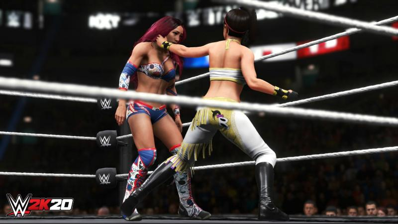 WWE 2K20 - Sasha vs Bayley