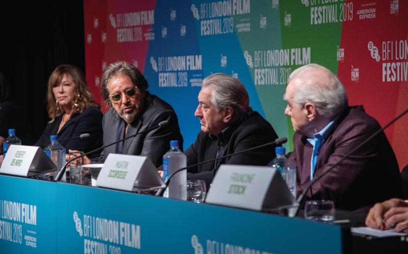 The Irishman: Jane Rosenthal, Al Pacino, Robert De Niro and Martin Scorsese (persconferentie) (Foto: Gareth Cattermole/Getty Images for BFI)