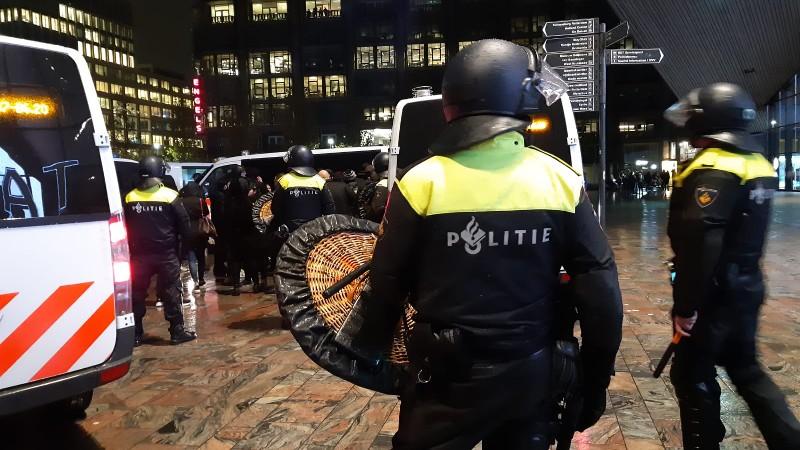 Tientallen aanhoudingen bij Koerdische opstand in Rotterdam (Afbeelding: Politie)