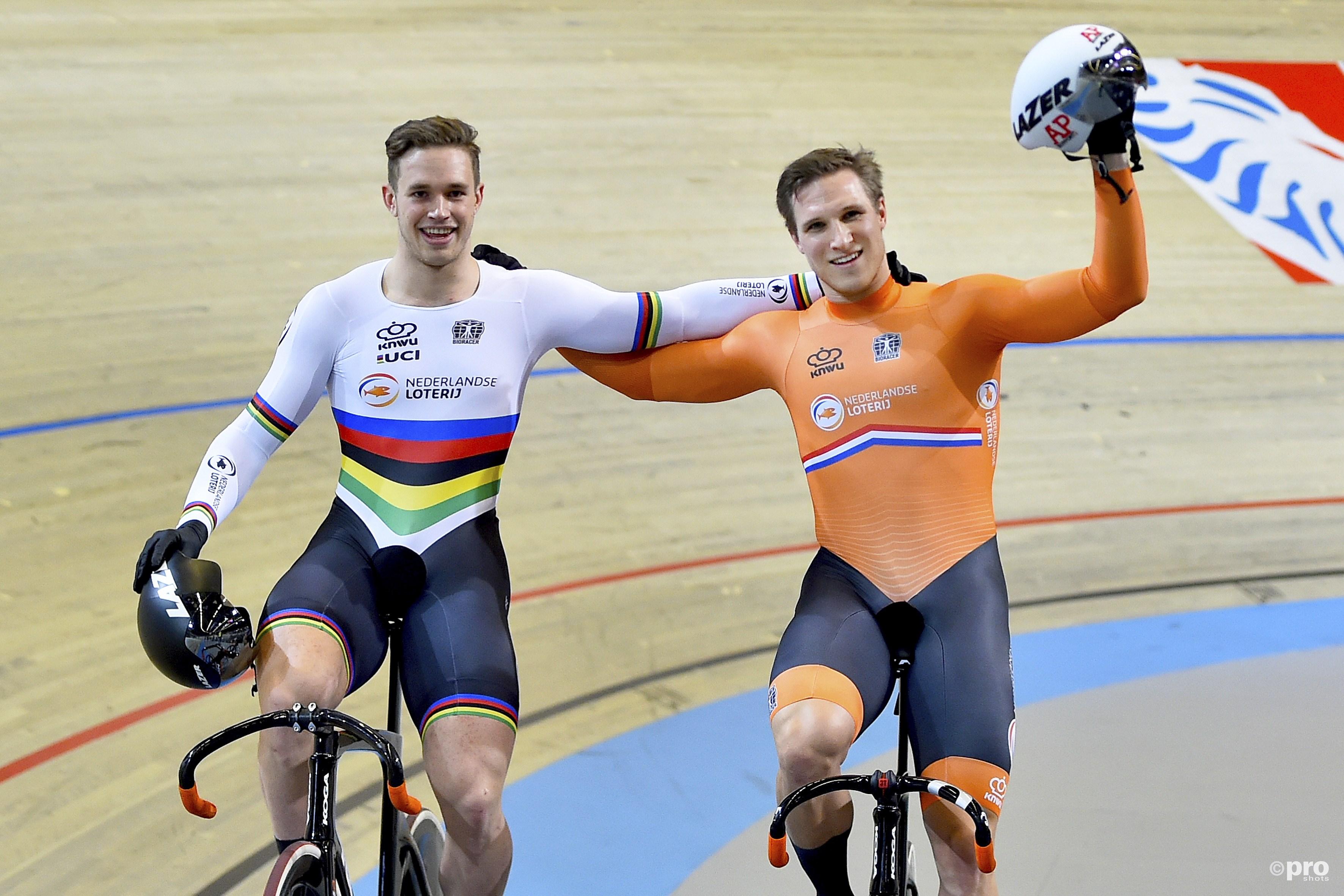 Oranje boven bij de sprint. (PRO SHOTS/Paul Meima)