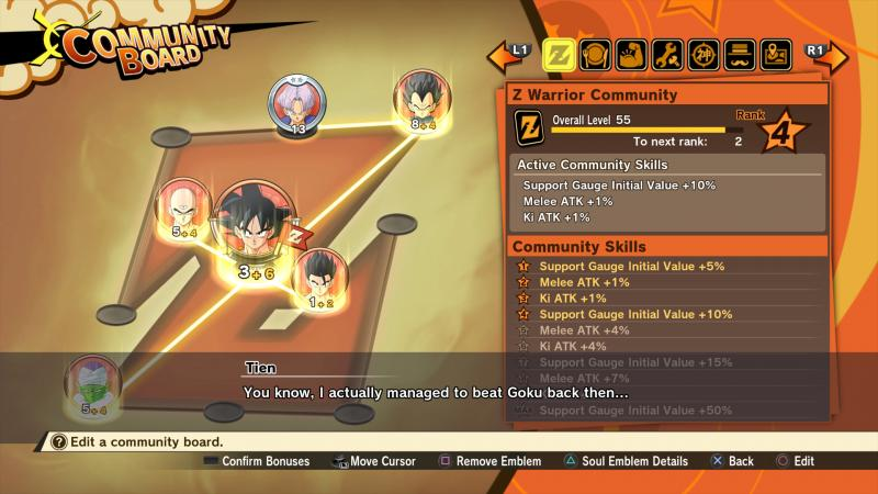 Dragon Ball Z: Kakarot - Community Board (Foto: Bandai Namco)