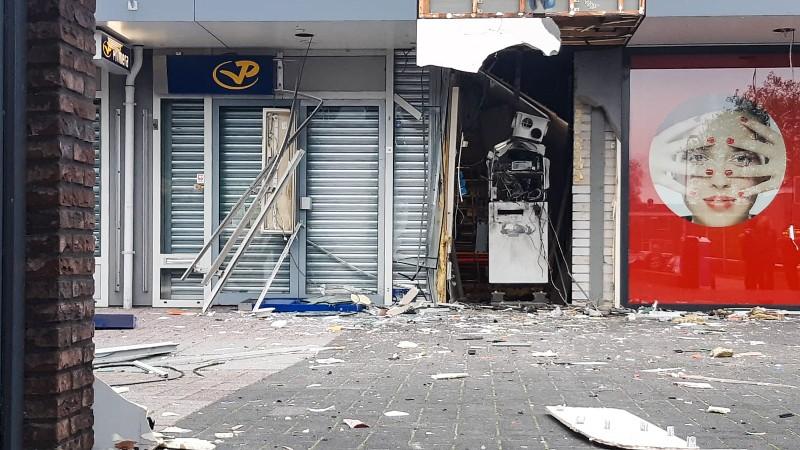 Grote ravage na plofkraak Spijkenisse (Foto: Politie)