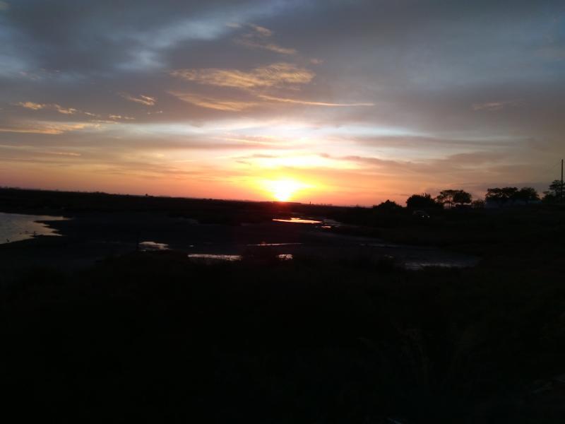 Zonsondergang bij Isla Cristina, Andalusië. (Foto: Kroezel)