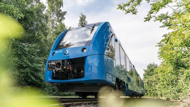 De Coradia iLint van de Franse treinfabrikant Alstom