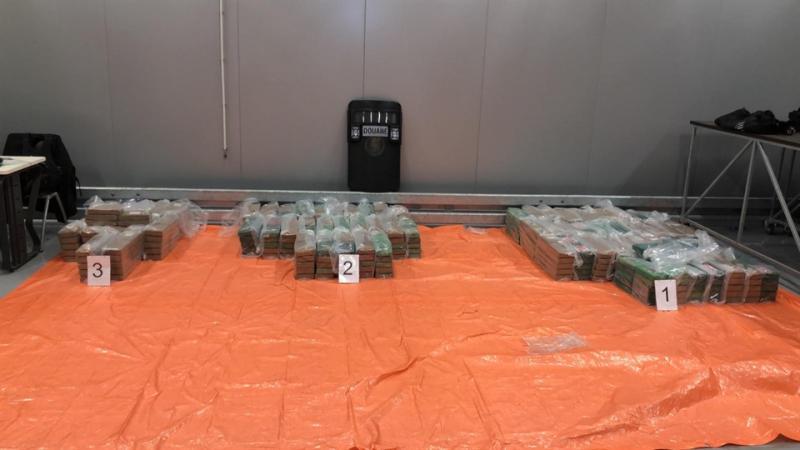 Douane vindt 750 kilo cocaïne tussen bananen (Foto: Openbaar Ministerie)