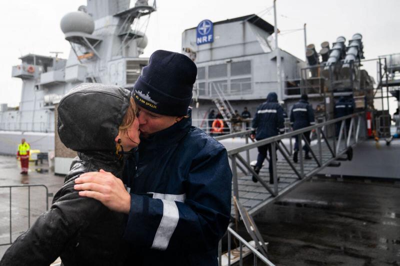 Marineschip weer in Den Helder na NAVO-inzet (Afbeelding: Defensie)