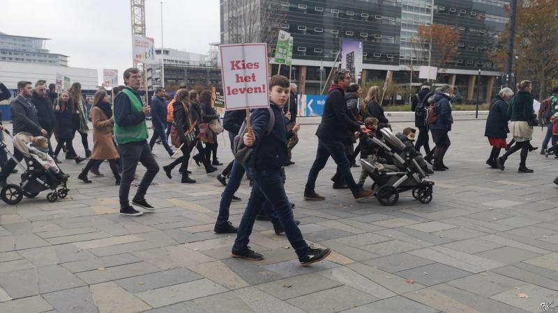 Prolife-demonstratie in Utrecht