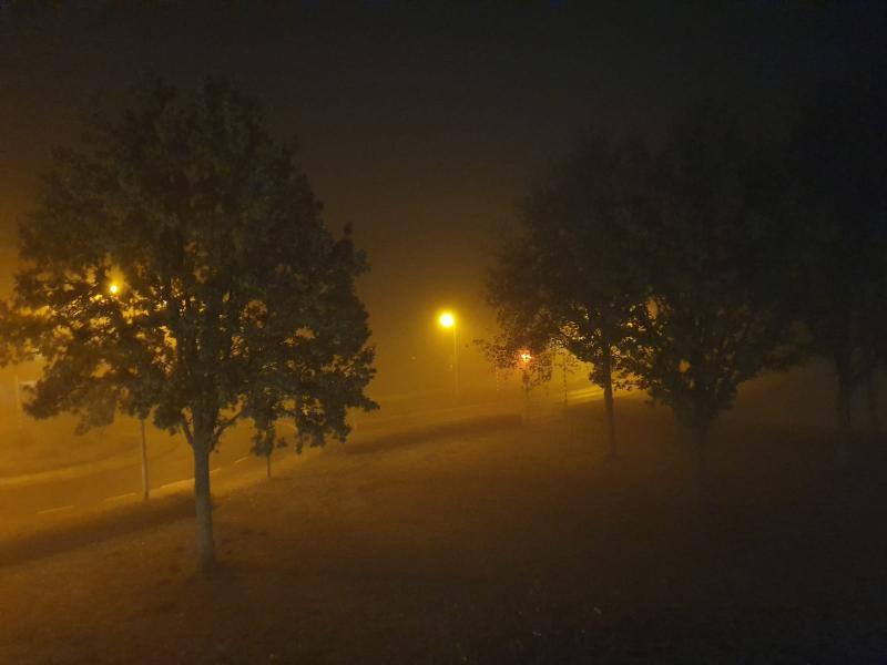 Een sfeervol plaatje, zaterdag precies om middernacht gemaakt in Borne (Foto: Drizzt)