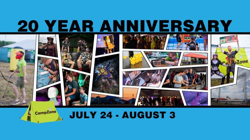 Campzone 20 jaar jubileum