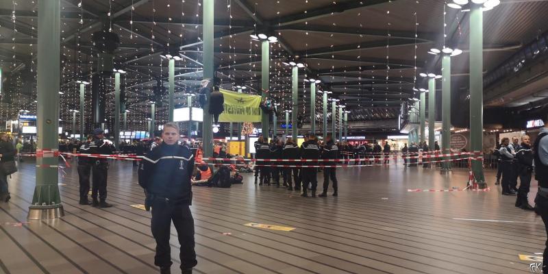 protestactie bijna voorbij (Foto: FOK!)