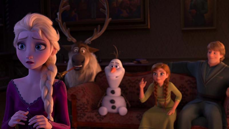 Frozen II: Elsa, Sven, Olaf, Anna en Kristof