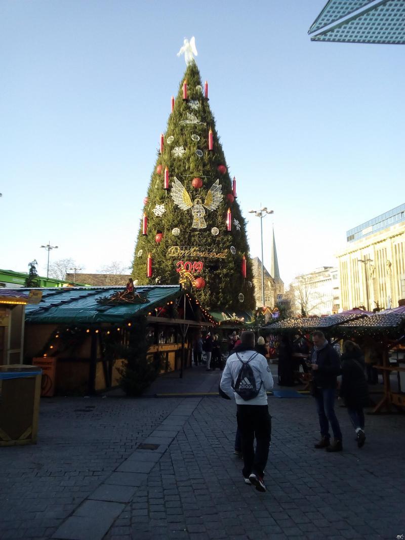 De kerstmarkt in Dortmund