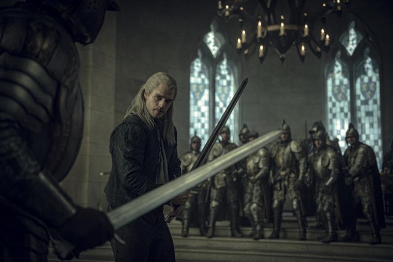 The Witcher Geralt duel
