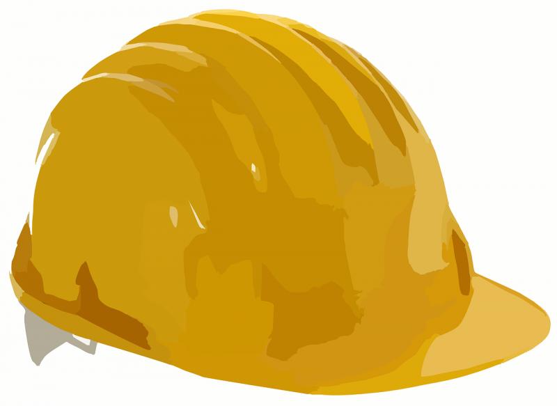 Een gele helm. Niet de helm uit het verhaal. (Afbeelding: Pixabay)