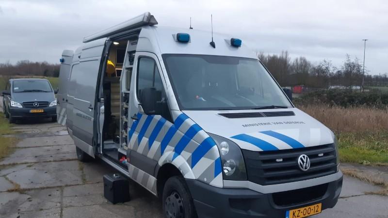 De EOD ter plaatse in Vlaardingen (Afbeelding: Politie)