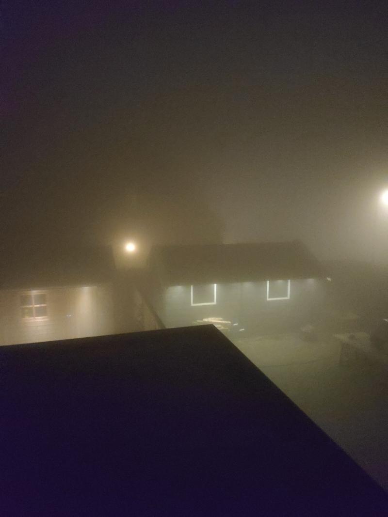 Ook in Friesland was het met de jaarwisseling mistig (Foto: Innisdemon)